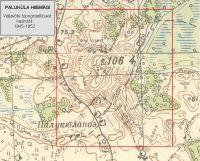 Topograafiline kaart, 1945-1952. a